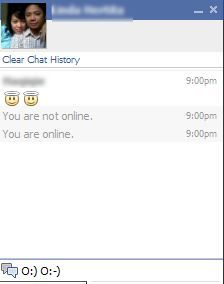 How to do an angel on facebook chat
