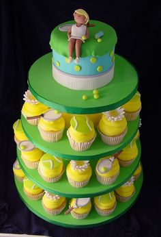 CakeChannel.com - World of Cakes: Tennis Wedding Cake And Cupcakes
