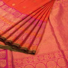 Venkie Reddy Handwoven Gadwal Kuttu Silk Saree 10007857 - AVISHYA.COM