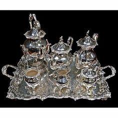 2529 Large American Victorian 7 PC Silver Plate Tea Set by Eton Shelfield   eBay