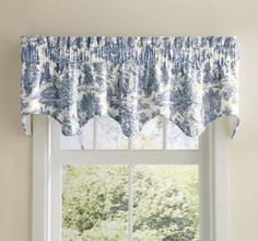 Victoria Park Toile Scalloped Valance from Through the Country Door® | NW44070