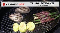 Kamado Joe Tuna Steak with Veggies https://www.youtube.com/watch?v=1UkR7KNSgu8&feature=em-subs_digest #ArcticSpasUtah