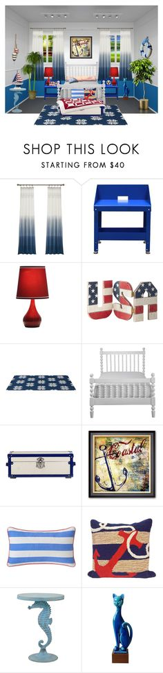 """No Place Like Home... Red, White and Blue"" by marvy1 ❤ liked on Polyvore featuring interior, interiors, interior design, home, home decor, interior decorating, International, Pottery Barn, Southern Tide and Liora Manné"