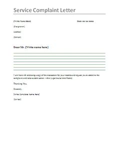 005 Employee Complaint Letter This employee complaint letter