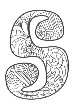 The super original mandaletras learn the alphabet - Educational Images Alphabet Letter Crafts, Alphabet Symbols, Hand Lettering Alphabet, Alphabet And Numbers, Coloring Letters, Alphabet Coloring, Coloring Books, Doodle Patterns, Zentangle Patterns
