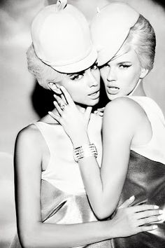 Sister Act| Anne Vyalitsyna & Irina Shayk by Ellen von Unwerth for Vs. Spring/Summer 2013!