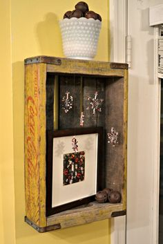 Decorating with vintage crates for the holidays!