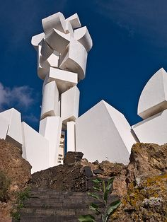 Fecundidad (Fertility). A sculpture / monument by Cesar Manrique, 1968, Casa-Museo del Campesino, San Bartolomé, Lanzarote. A tribute by CM to the farmers and stockbreeders of Lanzarote.