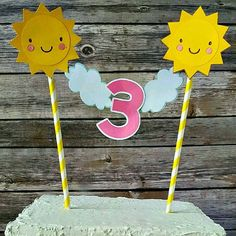 Sunshine Caketopper  You are My Sunshine Cake Topper