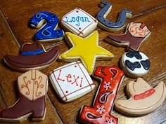 Western cookies. I don't even care for them but they have me and my sister name on them ;)