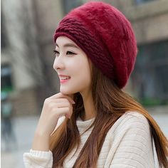women rabbit fur 2015 11 november promotion cheap beret winter new arrival female wholesale boina 9 colors purple lady's hat