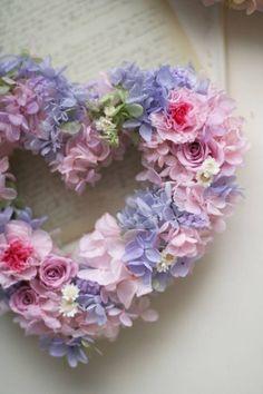 Lavender and rose Valentine Day Wreaths, Valentines Diy, Printable Valentine, Wedding Wreaths, Wedding Flowers, Flower Crafts, Flower Art, Corona Floral, Wreaths And Garlands