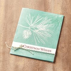 Bring a touch of nature's elegance to your projects this holiday with the Ornamental Pine stamp set.