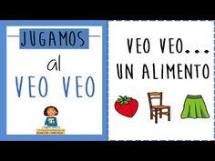EL BLOG DE L@S MAESTR@S DE AUDICION Y LENGUAJE: VIDEO JUGAMOS AL VEO VEO Speech Language Pathology, Speech And Language, Instrumental, Spanish Songs, Spanish Games, Ludo, Vocabulary Games, Baby Learning, Teaching Spanish