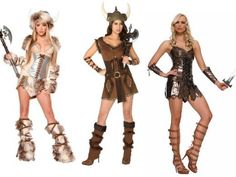 Women Halloween Viking Costumes