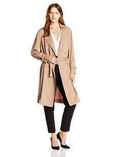 Lucca Couture Women's Soft Trench Coat, Taupe - http://www.womansindex.com/lucca-couture-womens-soft-trench-coat-taupe/
