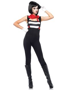 Sexy Marvelous Mime Costume | Womens Halloween Costumes