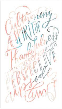 Thankfulness // Lindsay Letters for Promise Tangeman