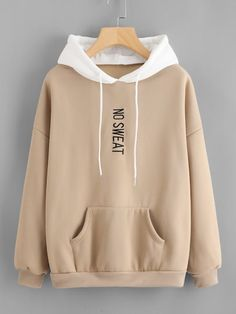 Shop Plus Letter Embroidered Drop Shoulder Hoodie online. SHEIN offers Plus Letter Embroidered Drop Shoulder Hoodie & more to fit your fashionable needs. Hoodie Sweatshirts, Hoody, Sweater Hoodie, Stylish Hoodies, Vetement Fashion, Casual Outfits, Fashion Outfits, Ladies Fashion, Fashion Styles