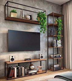 Home Room Design, Home Interior Design, Living Room Designs, House Design, Living Room Tv, Home And Living, Small Apartment Interior, House Rooms, Diy Home Decor