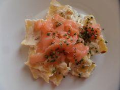 Ravioli and salmon