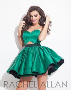 Rachel Allan 4047 Emerald Black Homecoming Dress