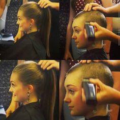 Bald is beautiful! #pointyourchindown #pixie #pixiecut #sideshave #undercut #sidecut #headshave #buzzcut #shorthair #haircut #bob #fauxhawk #brunette #shorthairdontcare #nape #hair #charleston #bigchop #barber #hairdresser #salon #hairfetish #hairofinstagram #makeover #hairoftheday #southcarolina #photooftheday #longtoshort #mohawk #model @hair.video @shorthair
