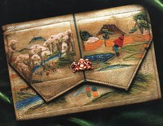 Purse with Japanese influence from mid 19th century
