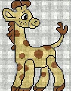Giraffenstickmuster