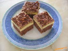 Řezy s vaječným konakem Dessert Recipes, Desserts, Tiramisu, Ethnic Recipes, Food, Tailgate Desserts, Meal, Dessert, Eten