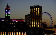 The iconic Oxo Tower on London's South Bank has undergone a transformation in order to ramp up excitement for the forthcoming launch of Sony's Playstation Tower Building, London Pictures, London Skyline, Tower Of London, London City, Things To Do In London, Light Architecture, Playstation, Ps4