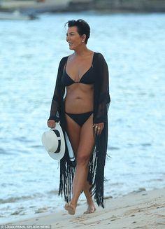 Looking good! Kris Jenner showcased her incredible bikini body as she enjoyed a sun-soaked...