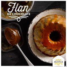 Flan de #chocolate