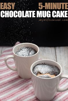 Chocolate Mug Cake that is vegan, gluten-free, and only 5 minutes away. Start now! This easy microwave coffee mug cake is the perfect ready fast dessert.
