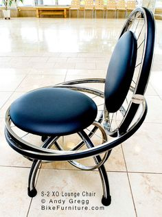 Bike Part Bicycle Wheels Chair  S2 XO by bikefurniture on Etsy, $470.00