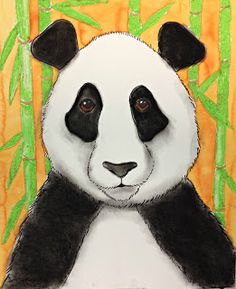 MaryMaking: Mixed Media Pandas