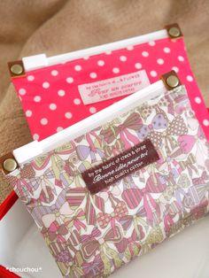続・スライダー式のぺたんこポーチ - *chouchou* Blog Entry, Fabric, Bags, Small Bags, Tejido, Handbags, Tela, Fabrics, Totes