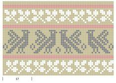 Mustrilaegas: A Kudumine / Knitting Tapestry Crochet Patterns, Knitting Paterns, Knitting Charts, Mosaic Patterns, Knitting Stitches, Cross Stitch Bird, Cross Stitch Patterns, Swedish Weaving Patterns, Filet Crochet Charts