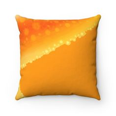 orange Starfish design blue One-sided printing white Square Pillow Case