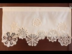 Muslin curtains with doilies