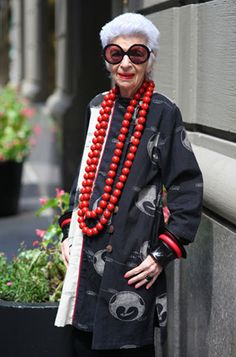 Iris Apfel, advanced style