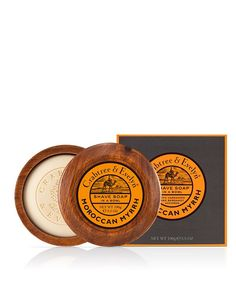 "Savon à raser ""Moroccan Myrrh"" et bol en bois Crabtree & Evelyn Shaving Soap, Wooden Bowls, Bergamot, Moroccan, Mens Products, Big Boys, Oriental, Spirit, Decorating"