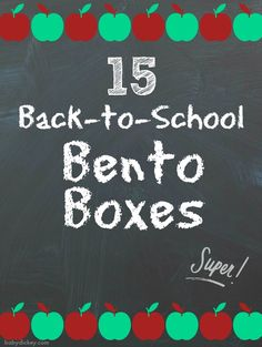 15 Back-to-School Bento Boxes - Baby Dickey Student Gifts, Bento Box, Lunch Ideas, Back To School, Boxes, Baby, Crates, Box, Entering School