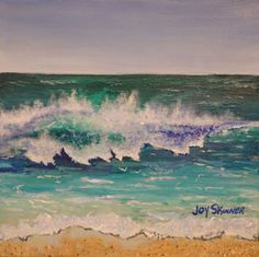 8 x Acrylic on Canvas by artist Joy Skinner I am inspired by the lush tropical climate in Florida and enjoy painting the ocean along with the wildlife that is found here. Is there anything more mesmerizing than the waves as they lap at the shoreline? Ocean Scenes, Boat Painting, City Scene, Large Wall Art, Curb Appeal, Landscape Paintings, Wildlife, Tropical, Water Colors