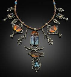 Laurie Leonard, Title: Tree and Robin Necklace