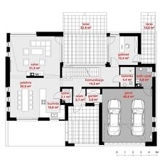 Rzut CPT KONCEPT 13 CE Floor Plans, Exterior, House, Home Plans, Architecture, Home, Outdoor Rooms, Homes, Floor Plan Drawing