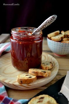 Confitura de pimientos del piquillo Spanish Food, Marmalade, Preserves, Jelly, Dips, Appetizers, Menu, Pudding, Cooking