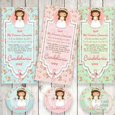 Gift cards for First Communion baptism-reminders First communion christening bookmark bookmark Stamp Communion Centerpieces, Baby Shower Centerpieces, First Communion Favors, First Holy Communion, Baby Girl Baptism, Baptism Party, Page Borders Design, Book Markers, Balloon Decorations Party