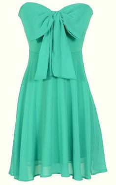 Oversized Bow Chiffon Dress ღ