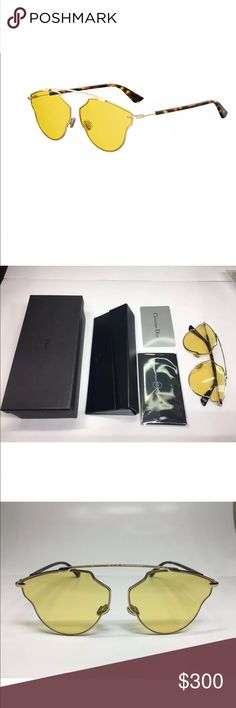 Authentic Christian Dior So Real Pop Sunglasses Brand new 100% Authentic Christian Dior So Real Pop Sunglasses. 2017 Autumn Collection. Comes with box, case, cloth, and authenticate card as in picture. Dior Accessories Sunglasses